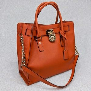 Michael Kors Hamilton Bag Saffiano Leather Tote